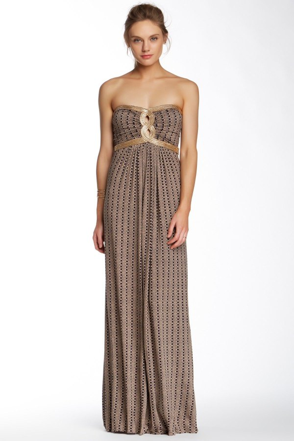 best strapless maxi dress outfit ideas for ladies