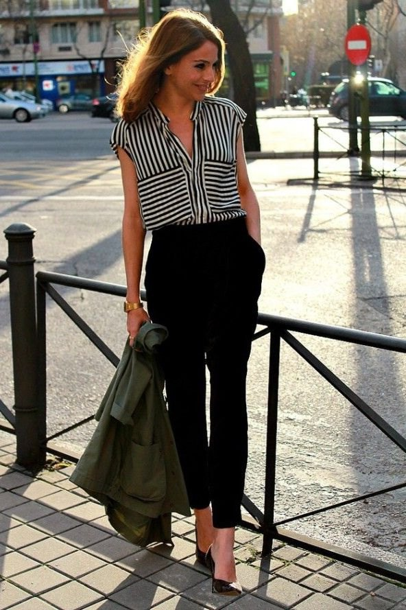 best black and white top outfit ideas for women