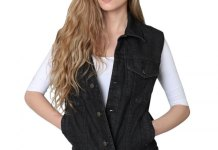 best black denim vest outfit ideas for women