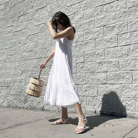3370bb42f23d Top 15 White Lace Up Sandals Outfit Ideas  How to Dress Refreshingly ...