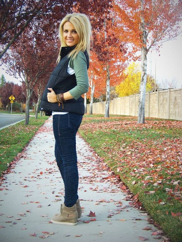 best fleece lined jeans outfit ideas for women