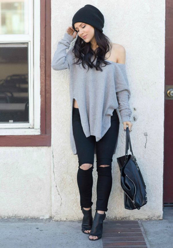 best peep toe ankle boots outfit ideas for women