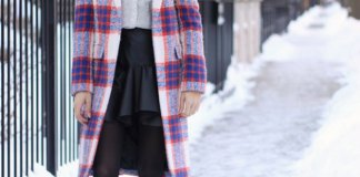 best plaid wool coat outfit ideas for women