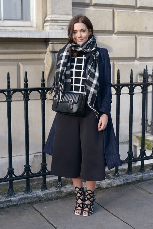 best black and white scarf outfit ideas for women