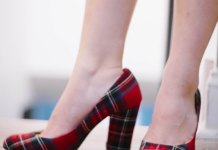 best plaid heels outfit ideas for women