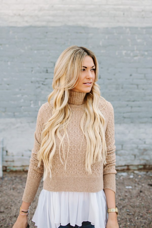 f85b7a100e3 Best 15 Tan Sweater Outfit Ideas for Women  Style Guide - FMag.com