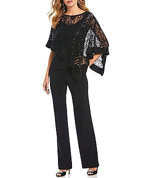 black long sleeve lace dressy blouse with chinos