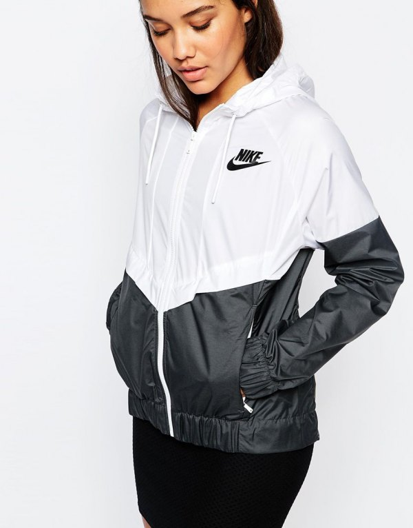 best white nike windbreaker outfit ideas for women