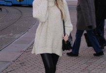 best oversized knit sweater outfit ideas for women
