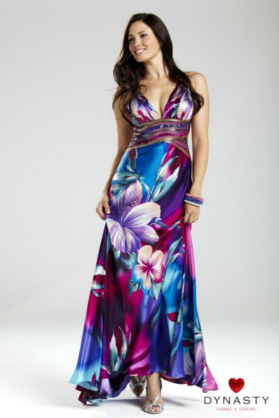 f1100a88668 norway hawaiian floral wedding dress 70f6f 438e9