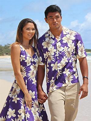 royal blue fit and flare sleeveless hawaiian mini dress