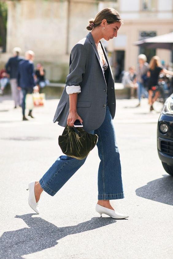 best kitten heel pumps outfit ideas for women