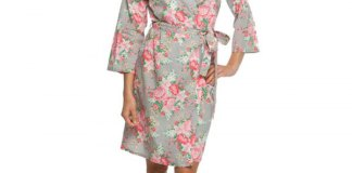 best floral robe outfit ideas for women