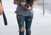 best paint splatter jeans outfit ideas for women