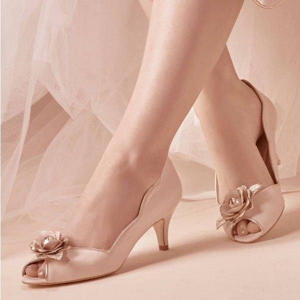 white cap sleeve gathered waist mini dress with open toe rose gold kitten heels