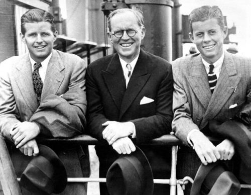 Joseph P. Kennedy Jr., Joseph P. Kennedy Sr., John F. Kennedy. 02 July 1938