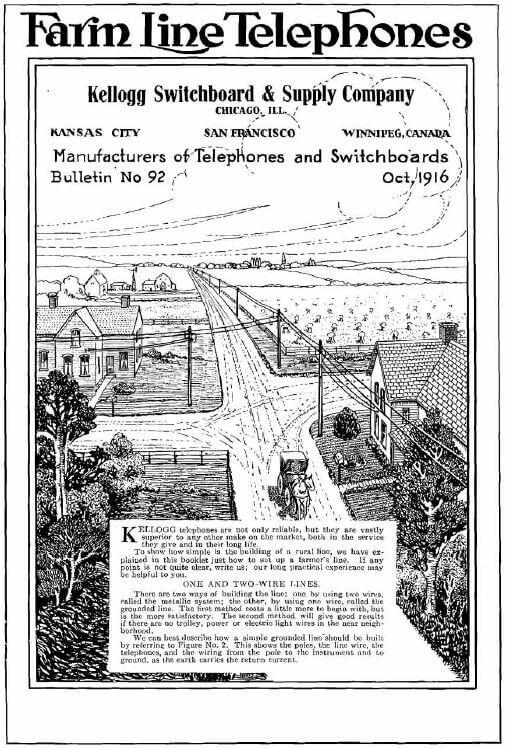 Stromberg Carlson 1916 Farm Line Telephones
