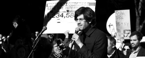 Aaron Swartz - manifestazione contro SOPA a New York