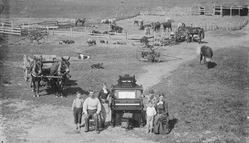 The David Hilton family near Weissert, Custer County, Nebraska. 1887