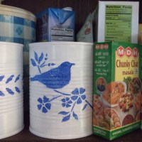 Pantry Organizers Made from Recycled Tin Cans