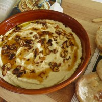 Warm Hummus with Almonds and Chili Butter
