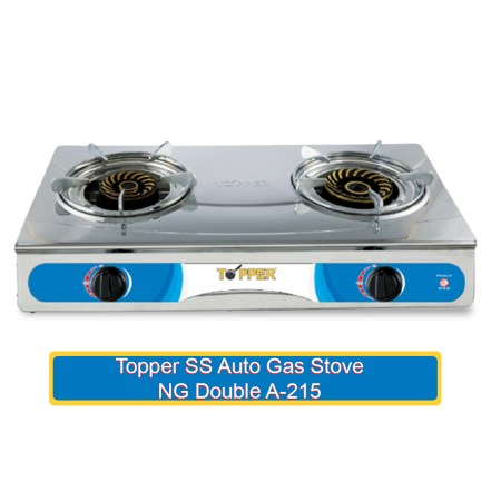 Topper SS Auto Gas Stove NG Double A-215