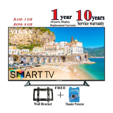 VIKAN 32 '' Android /Smart HD LED TV Black(4k supported)