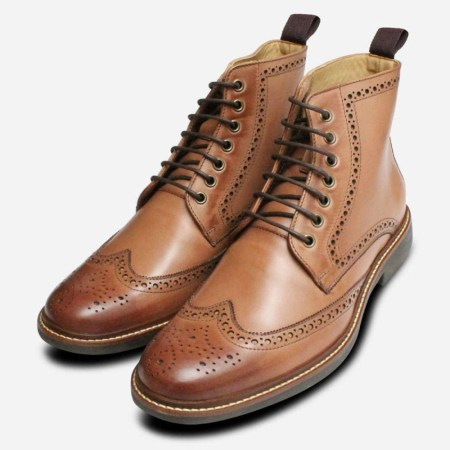 Brogue Leather Boot 02