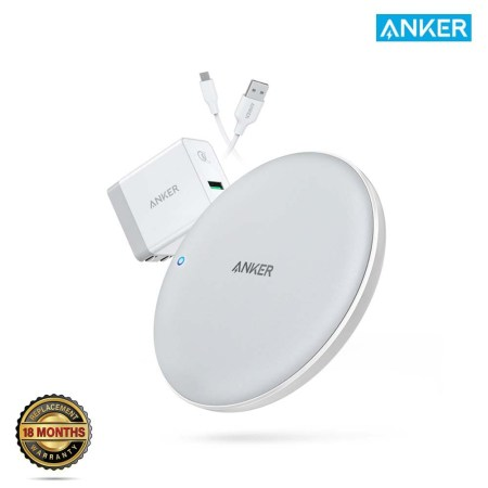 Anker PowerWave 7.5W with Quick Charge 3.0 Wireless Charging Pad (White)
