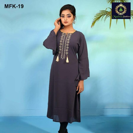 Linen Stitched Kurti for Women's (MFK-19)
