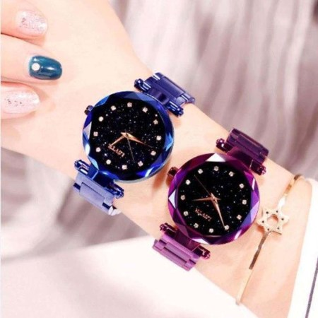 Combo Offer Purple & Blue Ladies Magnetic Watch For Women