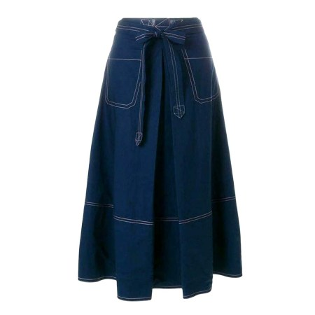 Imported Blue Color Denim Skirt With Stich Work (AL 1167)