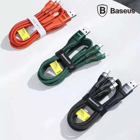Baseus Two-For-Three Fast Charging 100W Data Cable