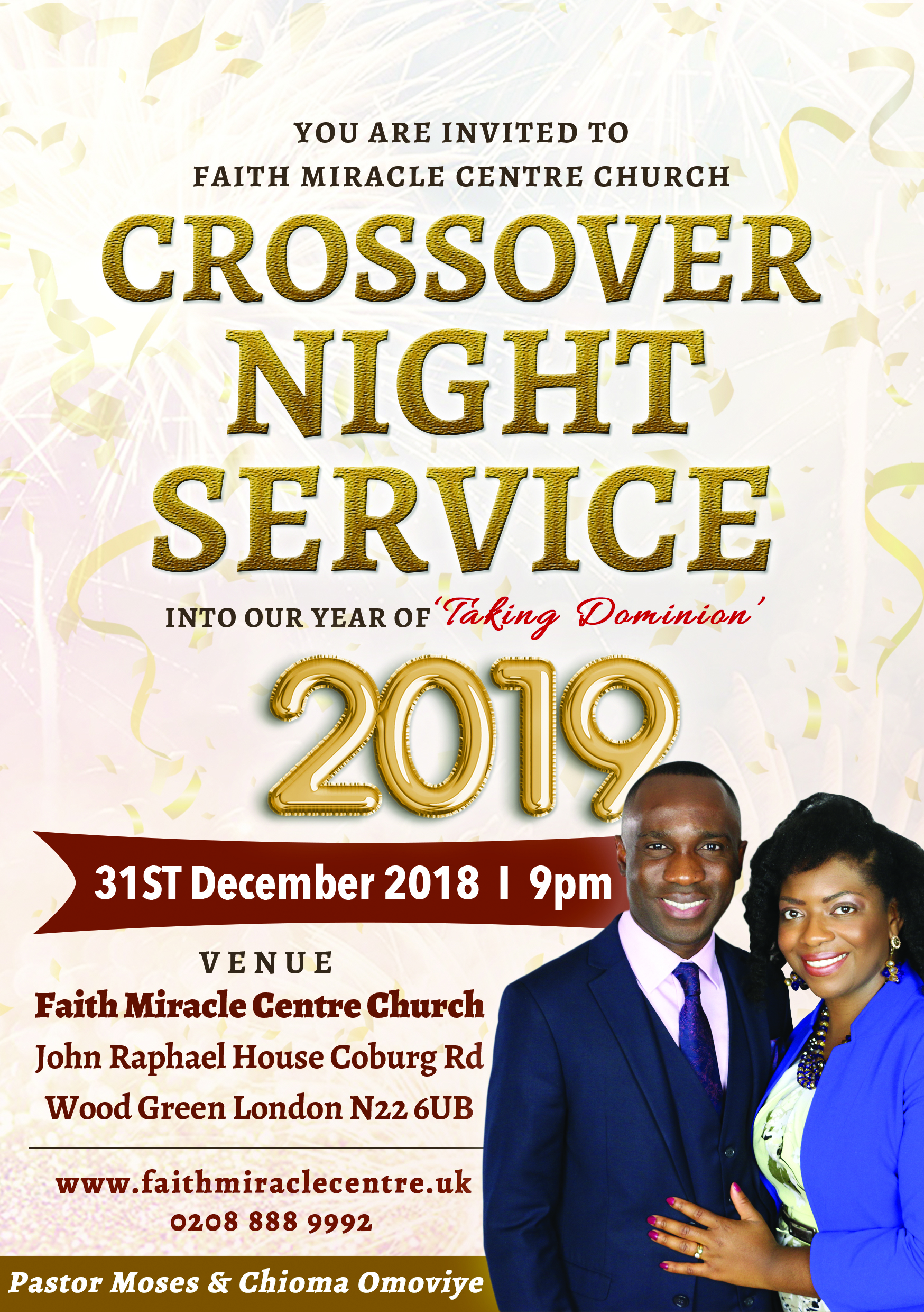 Pastor Moses OMoviye Crossover CHurch Faith Miracle Centre Signs Wonders New Years Eve