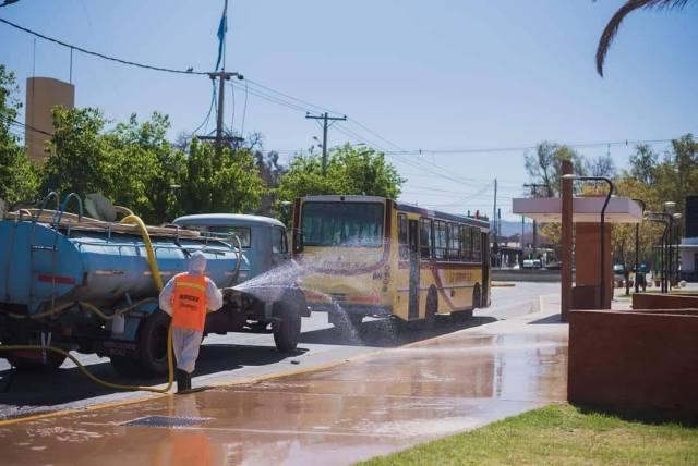 CONTINÚAN LOS OPERATIVOS DE DESINFECCIÓN en Rivadavia