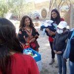 Desarrollo Humano asistió a una mamá y su bebé de las Lagunas de Guanacache