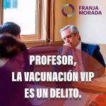 Estudiantes de derecho de la UBA le exigieron a Alberto Fernández una respuesta sobre el vacunatorio VIP