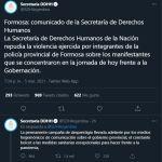"""Formosa: la secretaría de DD.HH. """"repudió la represión"""" y acusó a los medios"""