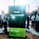 Se inauguró el paseo Talcahuano en Rivadavia