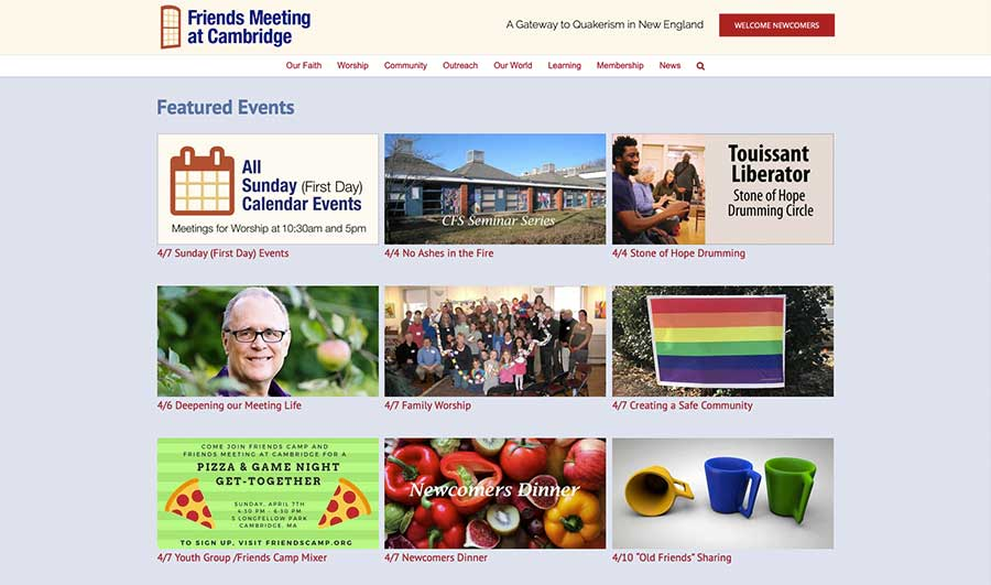Featured Events Page