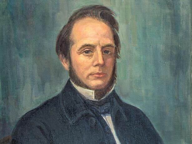 Painting of Roberts on display at the World Methodist Museum, Lake Junaluska, NC