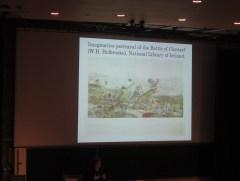 Meidhbhín Ní Úrdail talks later literary re-enactments of the battle