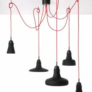 SHADOWS Set Free Brokis PC891 designer pendant lamp black glass red cable