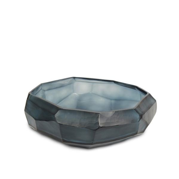 cubistic bowl indigo Guaxs mouthblown glass