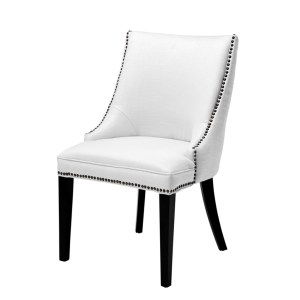 Bermuda dining chair cream white Eichholtz