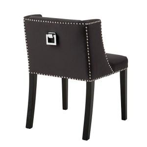 St. James dining chair dark grey satin  Eichholtz