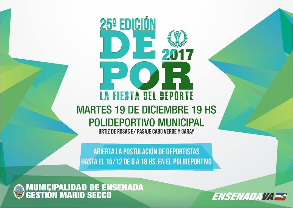 Ensenada: premios depor 2017