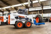 Tyre-handling is safe and easy with the latest Bobcat attachment | Bobcat Equipment South Africa