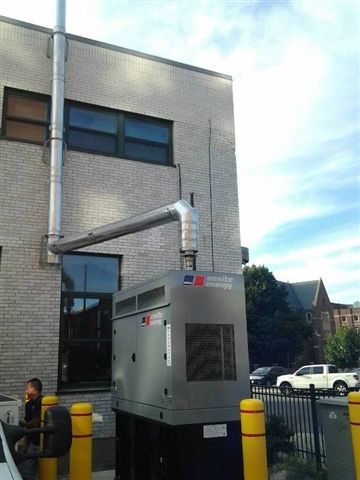 fm generator installs exhaust system at