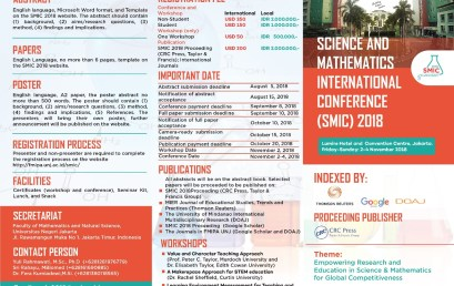 Science and Mathematics International Conference (SMIC) 2018